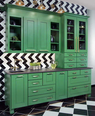 Refresh yourself with this beautiful Espalier green designed to welcome you in the home with elegance and beauty. Our ColorInspire program paints your desired color on cabinetry to personalize your unique style!