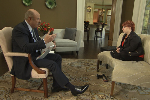 Dr. Phil McGraw and Michelle Knight. Photo credit: CBS Television Distribution / Stage 29 ...