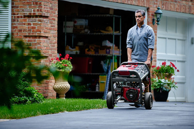 The Briggs & Stratton 8,000 Watt Elite Series(TM) Portable Generator with StatStation Wireless Bluetooth