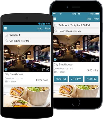 DineTime(r) Releases App Update to Provide Diners With Wait Times for Thousands of Restaurants