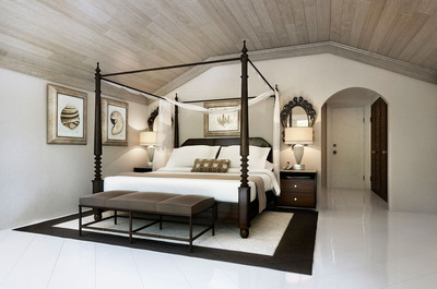 Four poster beds are included in most room categories.  (PRNewsFoto/Elegant Hotels Group)