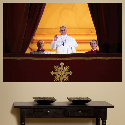 Fathead Creates Iconic Images of Pope Francis in Honor of the 266th Pope.  (PRNewsFoto/Fathead)