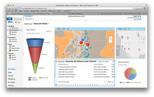 Esri Maps for Microsoft Dynamics CRM adds a location perspective to business information. (PRNewsFoto/Esri) (PRNewsFoto/ESRI)