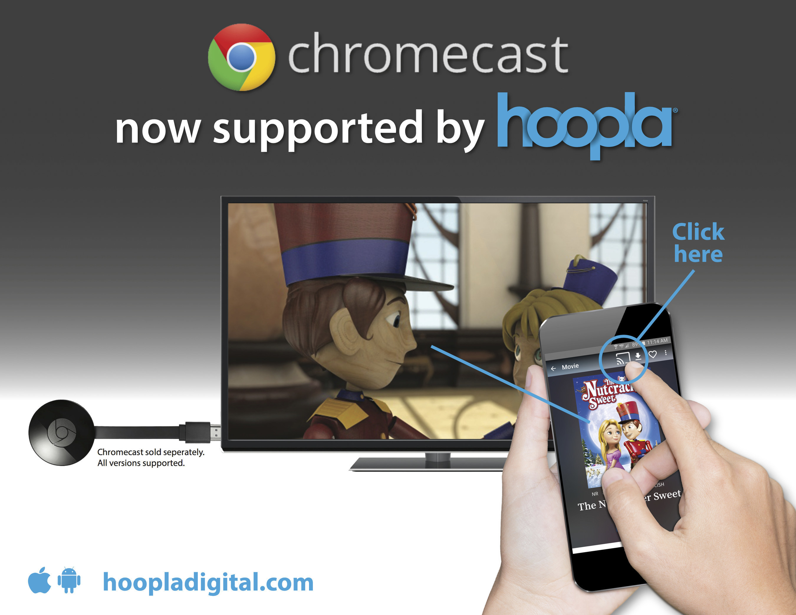 hoopla digital Unveils Support for Google Chromecast