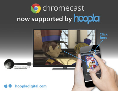 hoopla digital Unveils Support for Google Chromecast