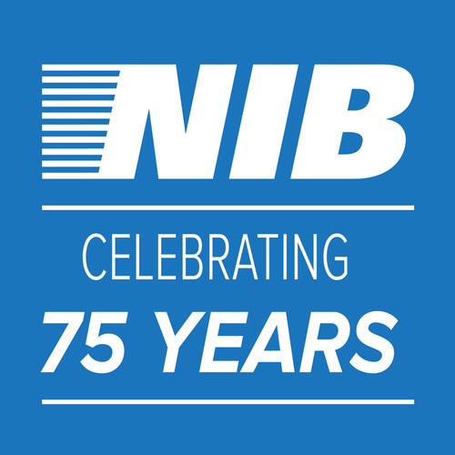 National Industries for the Blind (NIB) 75th anniversary logo.  (PRNewsFoto/National Industries for the Blind)