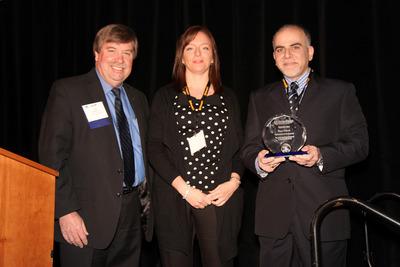 Daniel Hancock, SAE President; Rebecca Rubio InterRegs CEO; Rami Debouk, 2014 SAE/InterRegs Award Winner (PRNewsFoto/InterRegs)