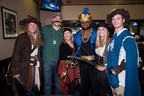 Ravens players and community members at the Goodwill Gridiron Halloween Party