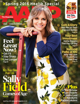 Sally Field AARP The Magazine Cover Issue