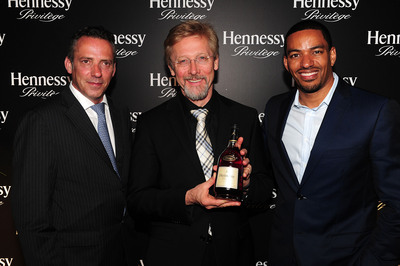 Olivier Pautes, Chris Bangle, and Laz Alonso at Privilege Redesign Launch in LA