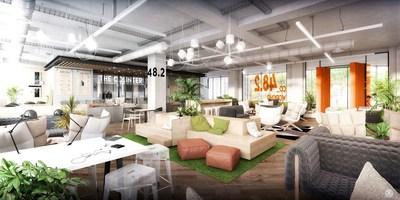"""48.2"""", the future co-working lounge of emlyon business school Paris campus. Saguez & Partners. (PRNewsFoto/emlyon business school)"""