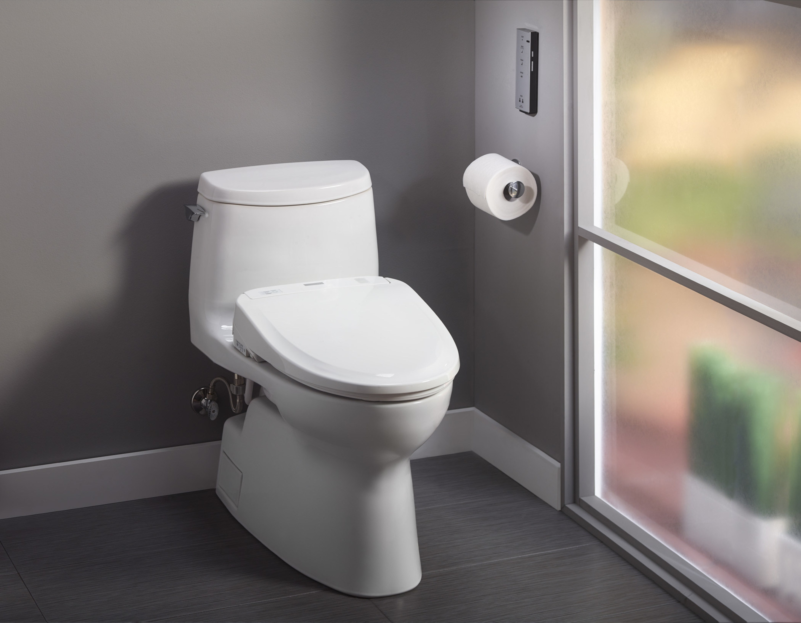 TOTO's innovative new Connect+ System neatly conceals the Washlet's power cord and water supply hose for an elegant seamless look that enhances any bath decor. Comprised of specially-designed Washlets and TOTO's water-efficient Tornado Flush toilets, the Connect+ System offers homeowners superior design aesthetics, water savings, technological innovation, superior cleanliness and over 40 different combination possibilities.