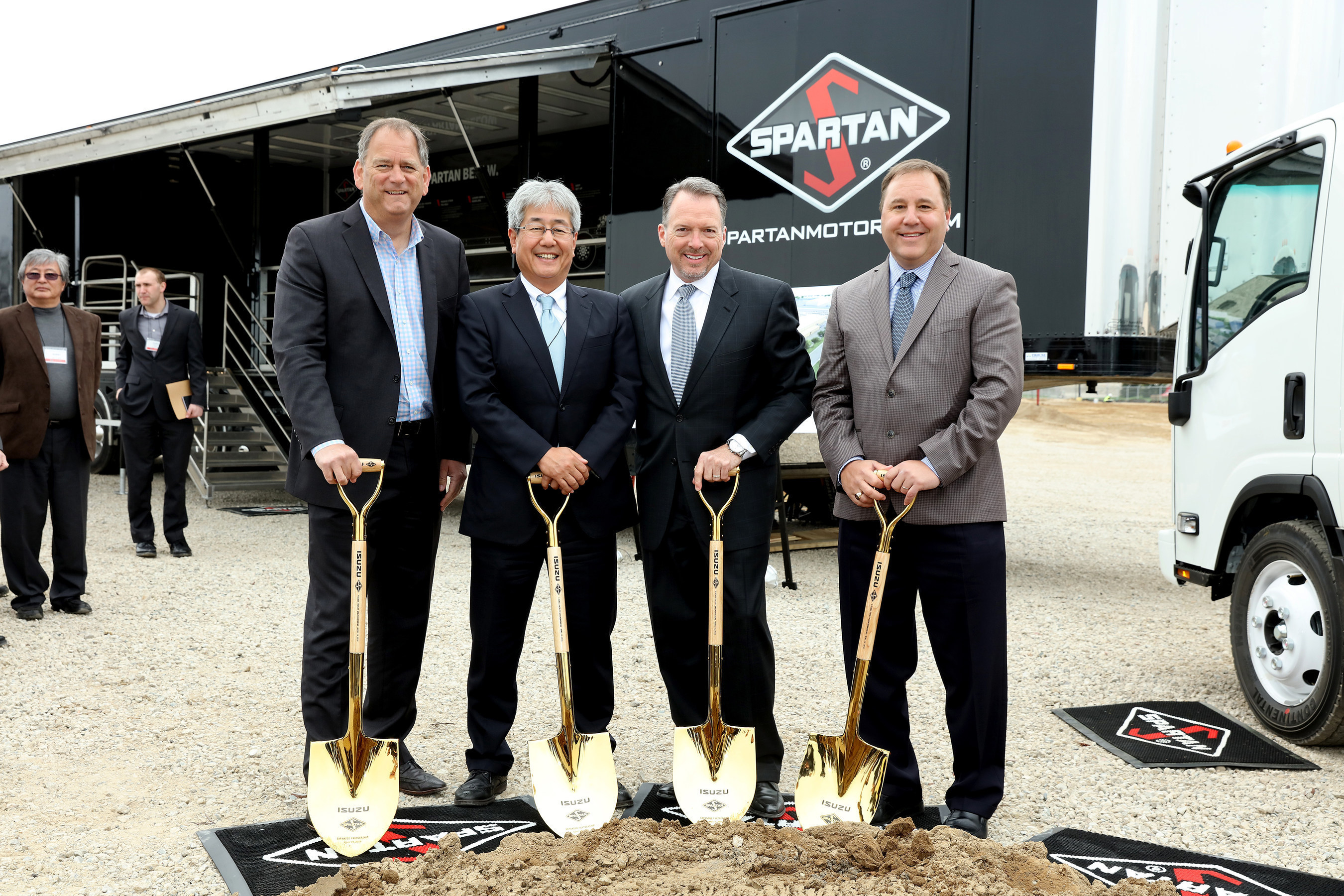 Pictured At The Spartan Motors And Isuzu North America Groundbreaking  Ceremony, From Left To Right