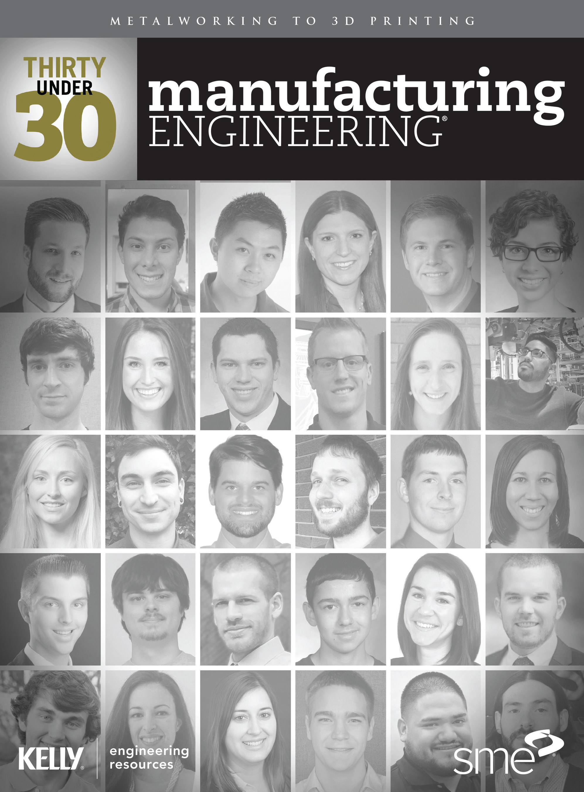 SME's Manufacturing Engineering's 30 Under 30 July Issue Inside Cover