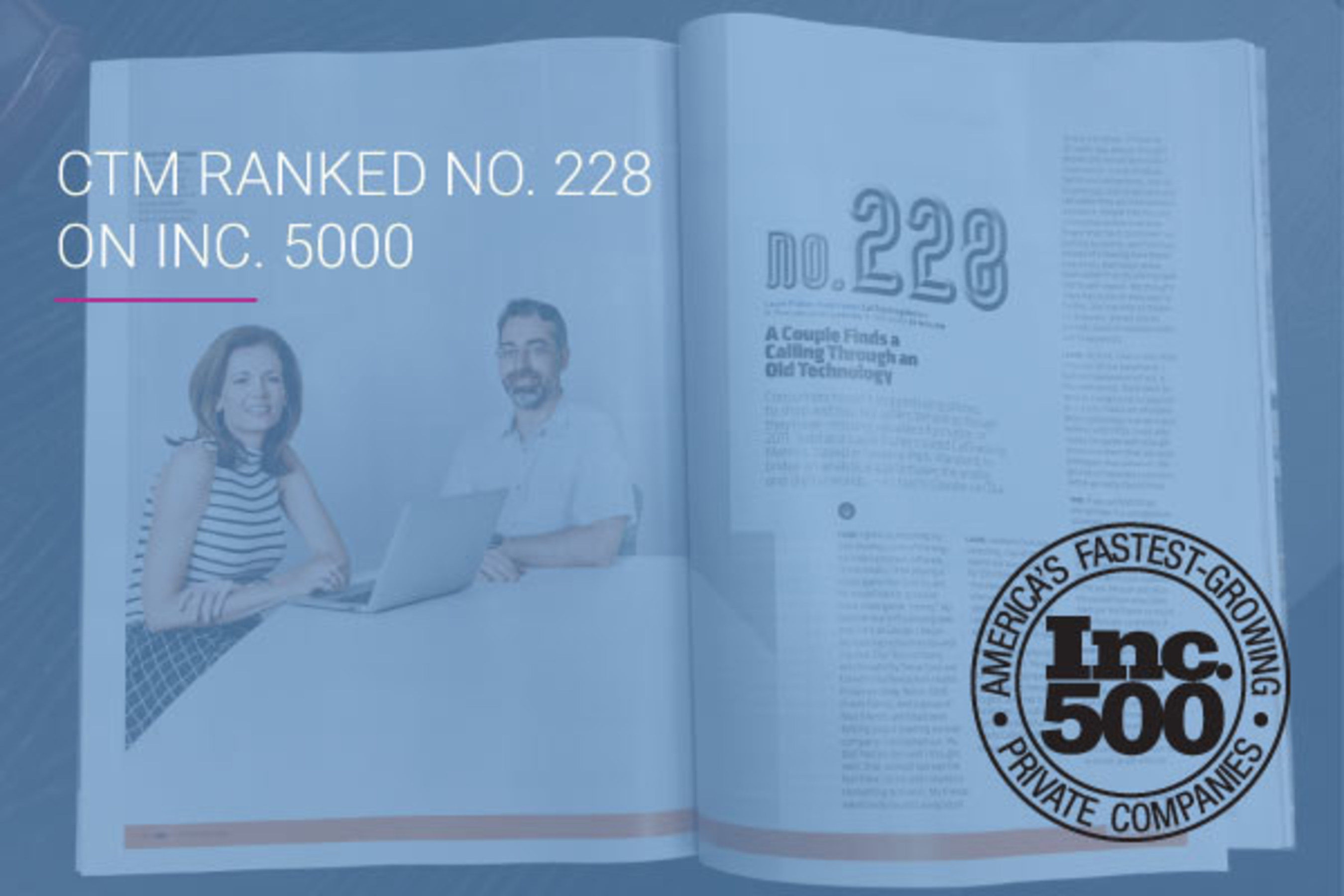 CallTrackingMetrics Ranked No. 228 on the 2016 Inc. 5000 and Featured in September Issue of Inc. Magazine
