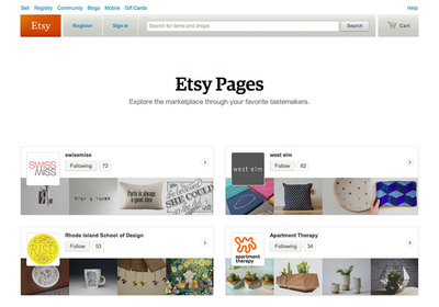 Etsy Pages.  (PRNewsFoto/Etsy)