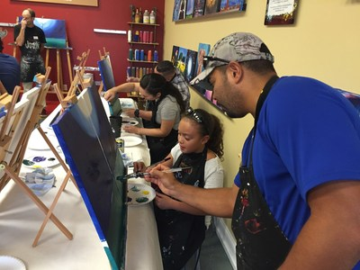 Injured veterans and guests joined Wounded Warrior Project at Painting With a Twist in Ocala, Fla. for a creative evening out.