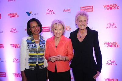 Condoleezza Rice, Tina Brown and Xuxa at the 1o Women in the World in Brazil-supported by Wella.  (PRNewsFoto/Koleston)