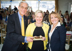 President and CEO of ALSAC/St. Jude Children's Research Hospital Richard Shadyac Jr., presents Tri delta President Phyllis Durbin Grissom and Tri Delta Executive Director Karen White with a key to the newly dedicated St. Jude Tri Delta Place in celebration of the Fraternity's recent commitment to raise $60 million in the next 10 years.