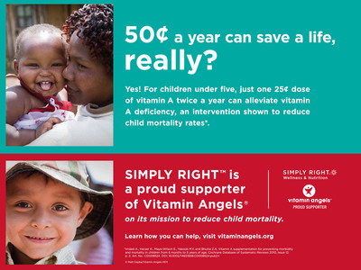 Sam's Club SIMPLY RIGHT(TM) Donates $500,000 to Vitamin Angels.  (PRNewsFoto/Sam's Club)