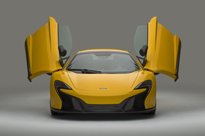 The McLaren 650S Spider. Ally and McLaren announced a financing relationship in January 2016.