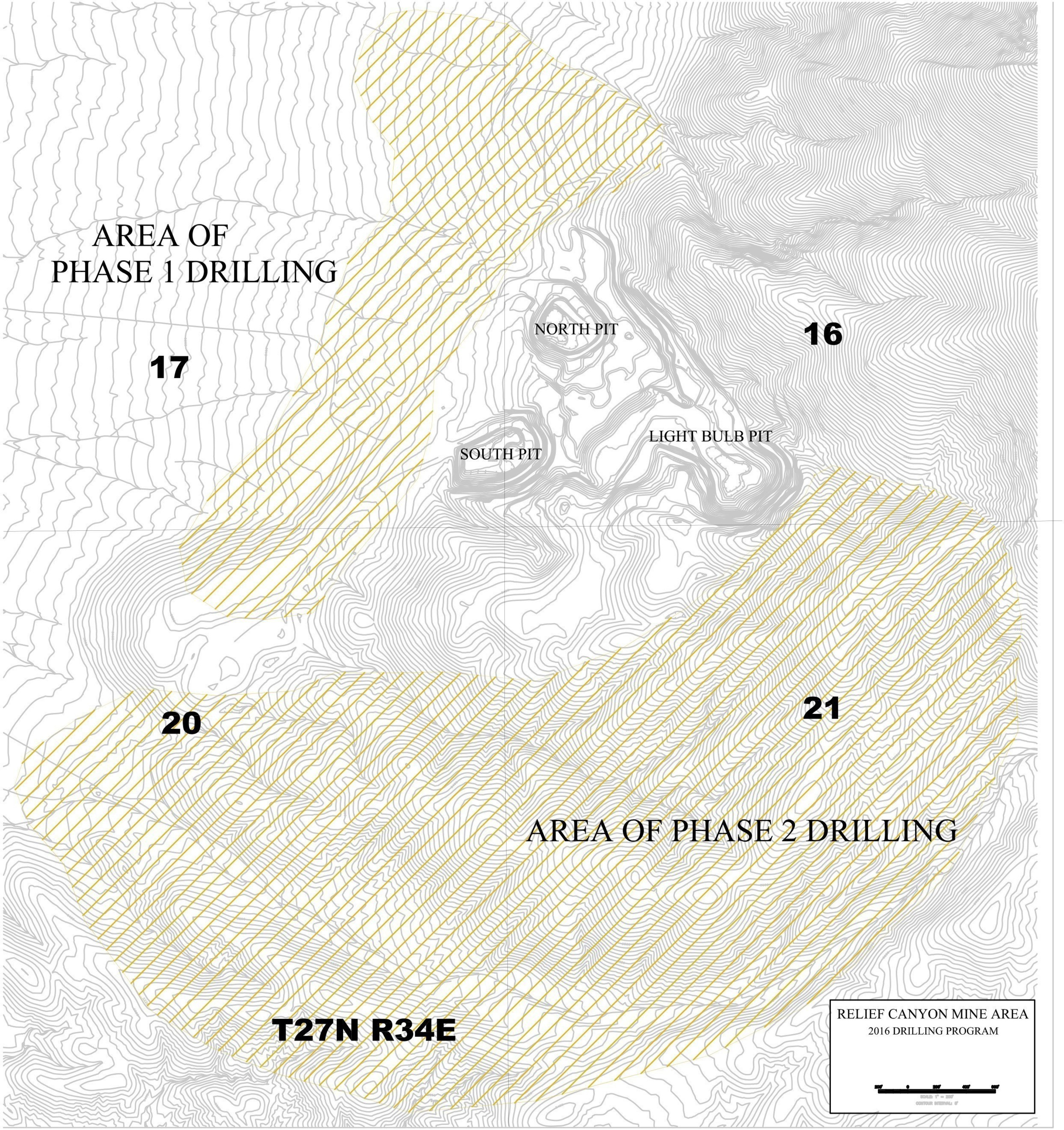 Figure 1: Phase 1 and Phase 2 Drilling Areas