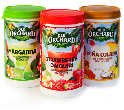 Orchard Brands makes party planning easier than ever with the introduction of its new blend-and-serve line of frozen mixers, including Margarita, Pina Colada and Strawberry Daiquiri