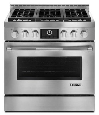 The Jenn-Air brand's collection of luxury, high-performance Pro-Style® gas ranges is now available factory-set for LP gas.