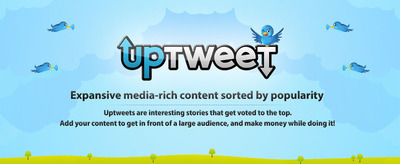 Uptweet allows you to write expansive media rich content and tweet it to all your followers instantly! The more popular your post gets the higher up you go on UpTweets homepage.
