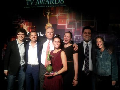 C MUSIC TV SCOOPS AWARDS HAT-TRICK ON 5th BIRTHDAY!William Derrick (Channel Assistant) , Julian Rigamonti (Founder & CEO), Michel De Rosen (CEO, Eutelsat Communications), Claire Thomas (Channel Manager), Josey Maguire (Editor), Richard Trimble (Technical Director), Miranda Morris (Content Manager)