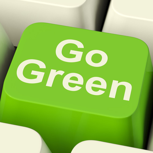 Online Learning Benefits the Environment