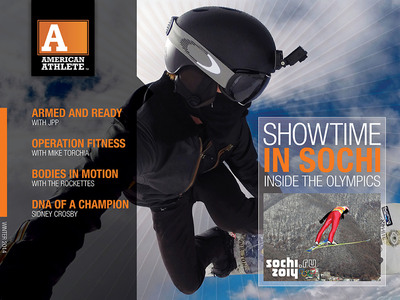 AMERICAN ATHLETE MAGAZINE'S HIGHLY ANTICIPATED WINTER 2014 ISSUE FOR IPAD ARRIVES. Interactive Magazine Features Dynamic Content Designed to Educate, Entertain and Inspire Athletes at All Levels of Competition. Go to iTUNES from your iPAD (http://lnkd.in/dEFRA8s) or visit www.americanathletemag.com for details!  (PRNewsFoto/DavidHenry Marketing & Media)