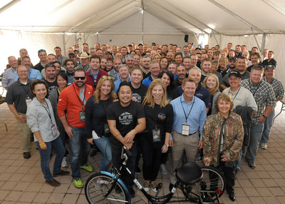 Vista Outdoor employees volunteered to build bikes that were donated to the National Ability Center to help those in need