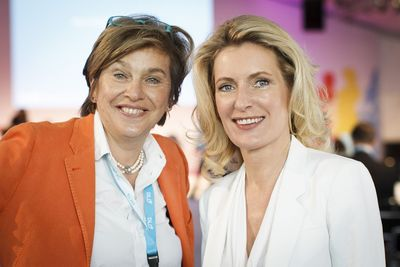 DLDwomen Founder Steffi Czerny (l.) and Maria Furtwaengler-Burda at DLDwomen (Digital-Life-Design) Conference is taking place for 4th time in Munich, July 15-16, 2013