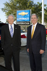 AutoNation Chairman & CEO, Mike Jackson and AutoNation COO & President, Michael Maroone at AutoNation Chevrolet of Fort Lauderdale, the first rebranded franchise of AutoNation Coast to Coast rebranding of 210 franchises. (PRNewsFoto/AutoNation, Inc.)