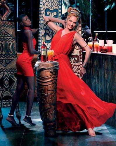 Campari Calendar 2014 – Worldwide Celebration. Star: Uma Thurman Photographer: Koto BolofoOutfit: Maiyet ...