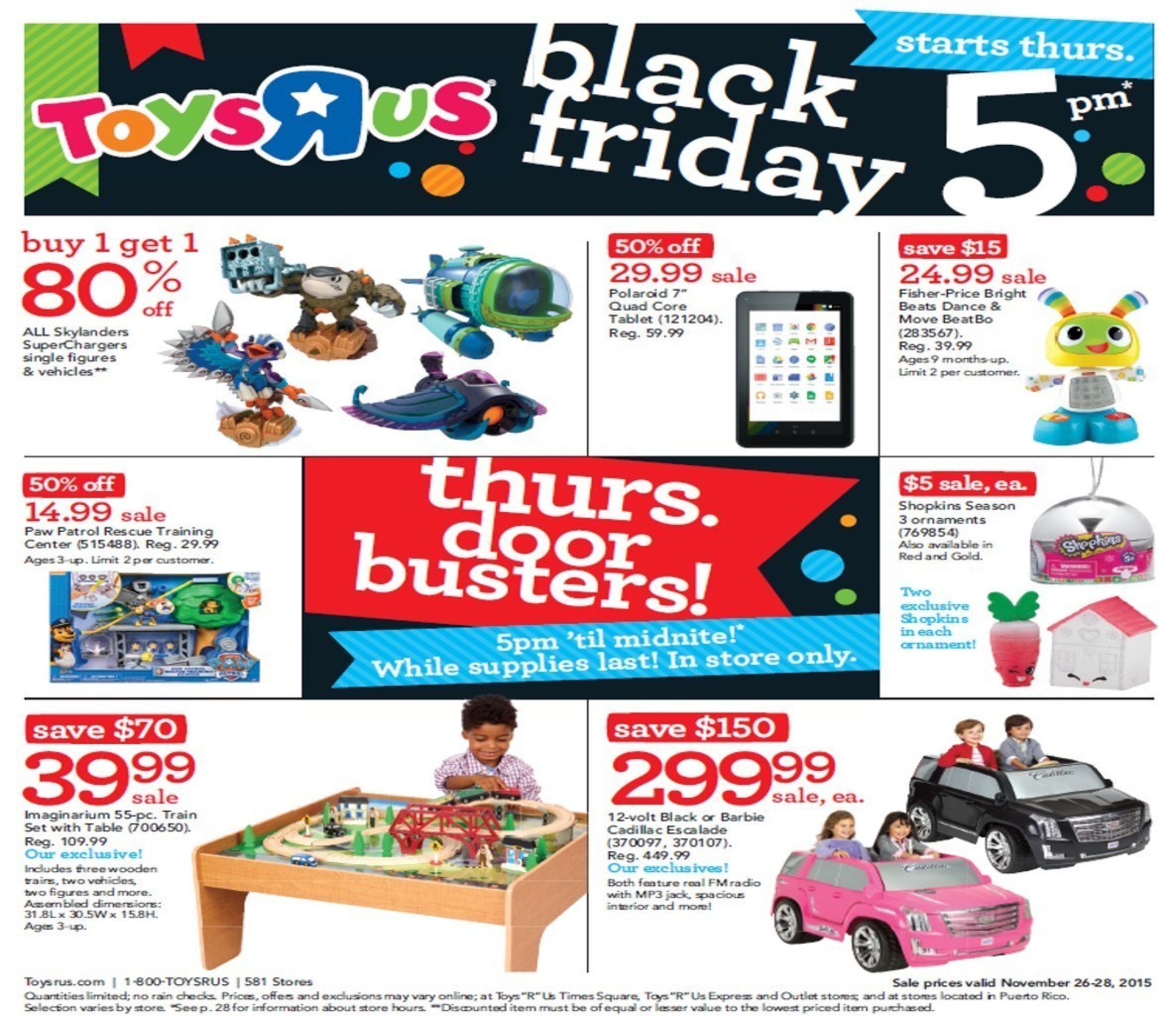 """Toys""""R""""Us Reveals Thanksgiving Weekend and Black Friday Deals."""