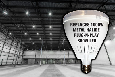 """PLUG-N- PLAY"""" FOR 1000W METAL HALIDE SAVES 62% IN ENERGY COSTS = $732 PER LIGHT UPGRADED PER YEAR*"""