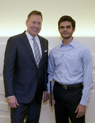 John C. Robak, President and Chief Operating Officer of Greeley and Hansen, with Diego Sebastian J. Serrano Suarez, IAESTE Intern.  (PRNewsFoto/Greeley and Hansen)