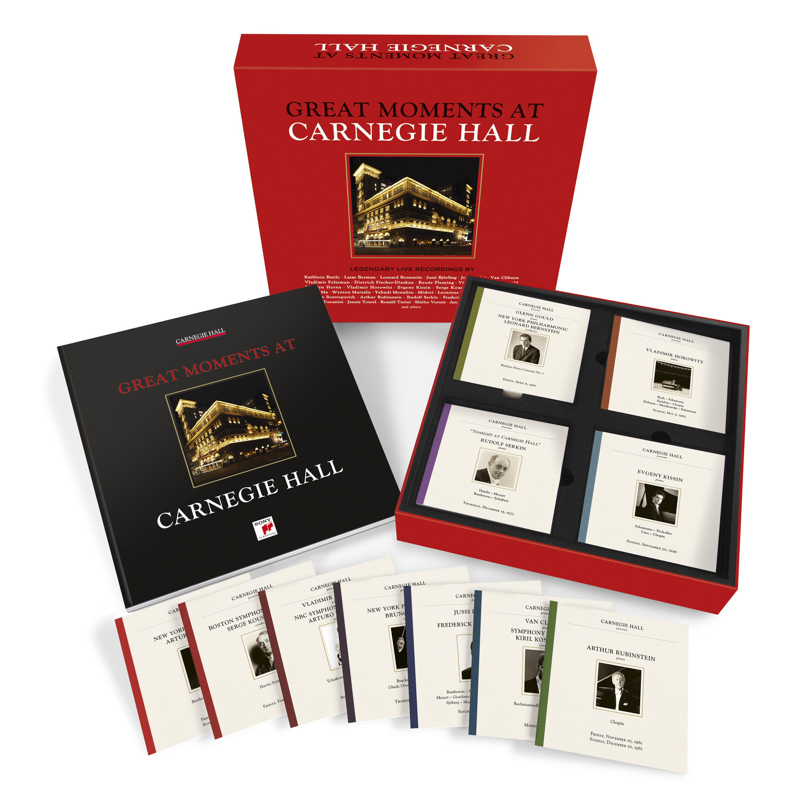 GREAT MOMENTS AT CARNEGIE HALL box set Available April 29