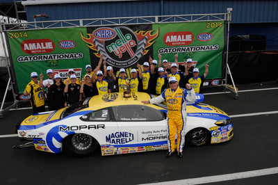 Allen Johnson Drives New Magneti Marelli Mopar Dodge Dart to NHRA Gatornationals Win.  (PRNewsFoto/Chrysler Group LLC)