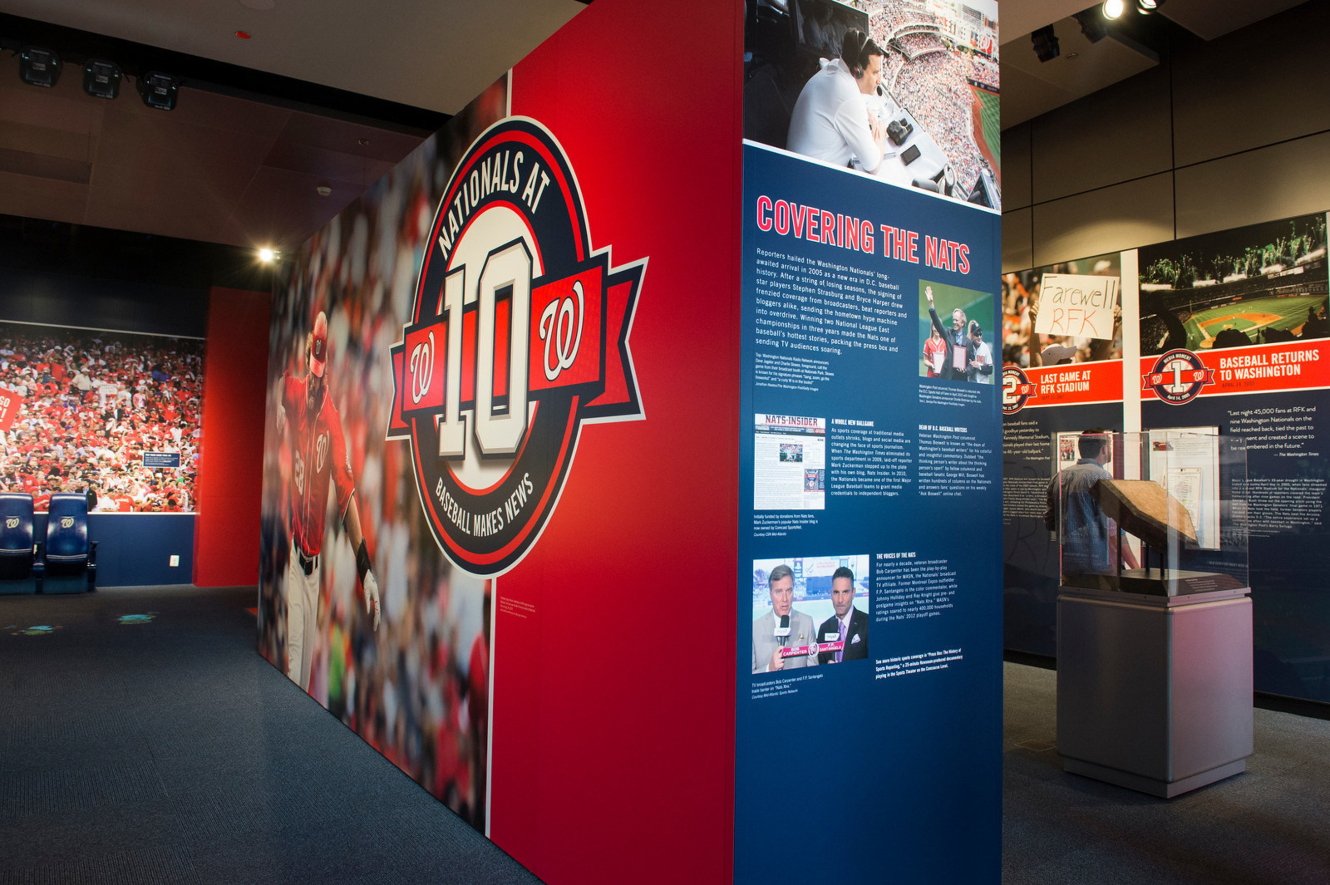 """""""Nationals at 10: Baseball Makes News"""" is now open at the Newseum in Washington, D.C. (Maria Bryk)"""