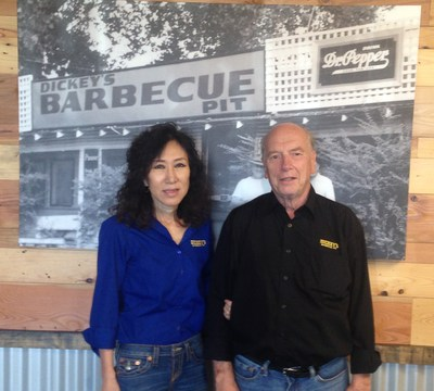 Owner/Operators Eun and James Thornton open the newest Dickey's Barbecue Pit in San Diego this Thursday