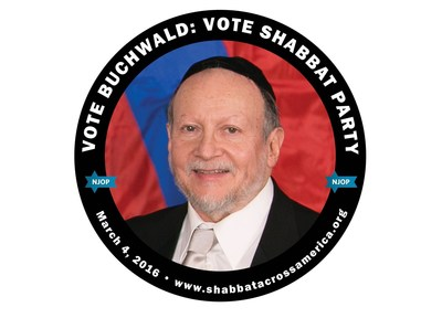 Campaigning for the 'Shabbat Party' Rabbi Buchwald Invites You to Join Shabbat Across America March 4th