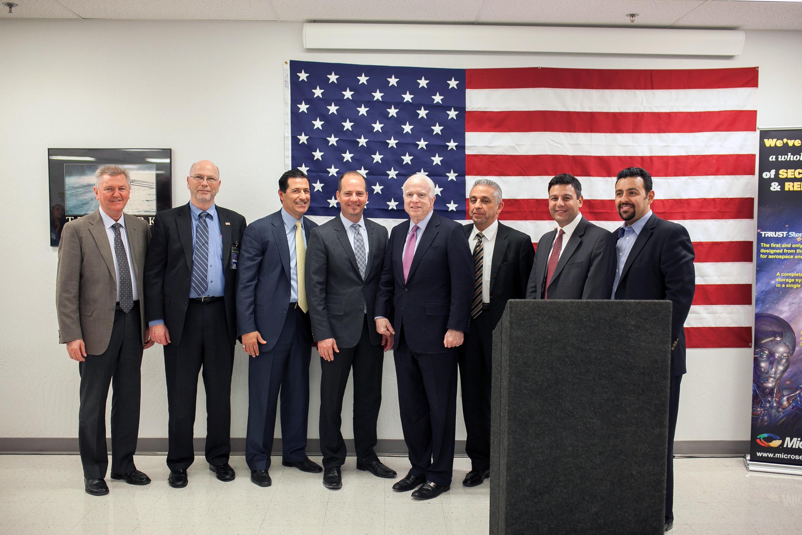 Sen. John McCain Visits Microsemi's Phoenix Facility