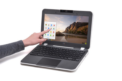 The CTL NL61TX Chromebook has a 10 point capacitive touchscreen and up-to 14 hour battery life.