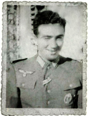 """2nd Lt. Frederick Mayer, the real """"inglourious basterd,"""" impersonating a Nazi officer behind enemy lines during World War II with the Office of Strategic Services (OSS).  (PRNewsFoto/The OSS Society, Inc.)"""