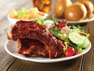 Ryan's, HomeTown Buffet, and Old Country Buffet are now offering Blue Ribbon Baby Back Ribs every night during dinner. Enjoy the ribs with complimentary dishes including potato salad, cole slaw, waffle fries, rotisserie chicken, BBQ salad, and strawberry shortcake.  (PRNewsFoto/Buffets, Inc.)