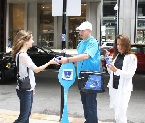 Dannon to give Chicagoans more than 17,000 yogurts on August 1, 2013. (PRNewsFoto/The Dannon Company) (PRNewsFoto/THE DANNON COMPANY)