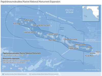 Pew Applauds Expansion of Papahānaumokuākea Marine National Monument